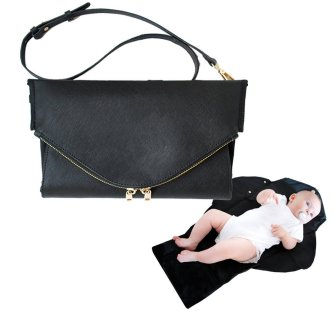 designer tote diaper bags u8o0  Who said that diaper bags have to be of mammoth proportions? The Keira  clutch is a refreshing departure from the cumbersome design of traditional  diaper