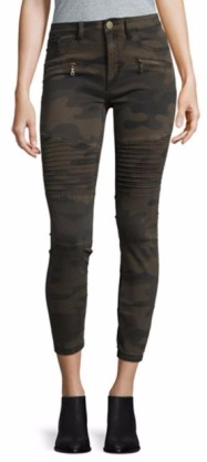 Design Lab Grunge Camo Pants