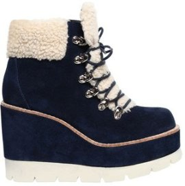 Jeffrey Campbell 80MM FOWLER SUEDE & FAUX SHEARLING BOOTS
