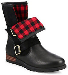 Sorel Major Leather & Suede Moto Boots
